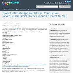Global Intimate Apparel Market Production, Revenue,Industrial Overview and Forecast to 2021