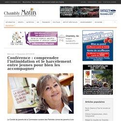 Conférence : comprendre l'intimidation et le harcèlement entre jeunes pour bien les accompagner - Chambly Matin - Journal le Chambly Matin, Montérégie Quotidien
