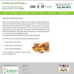 Gluten intolerance test in Auckland, Wellington, Christchurch, Hamilton, Tauranga, Dunedin, NZ
