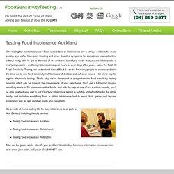 Testing Food Intolerance in Auckland, Wellington, Christchurch, Hamilton, Tauranga, Dunedin, NZ