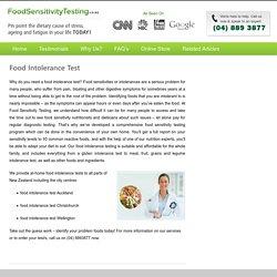 Food Intolerance Test in Auckland, Wellington, Christchurch, Hamilton, Tauranga, Dunedin, NZ