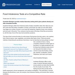 Food Intolerance Tests at a Competitive Rate