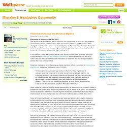 Histamine Intolerance and Menstrual Migraine