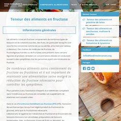 Teneur des aliments en fructose - Intolérances alimentaires (Food Intolerance Diagnostics)
