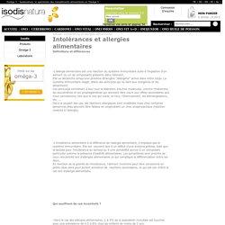 Intolérances et allergies alimentaires