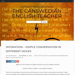 Intonation – Simple Conversation in Different Voices