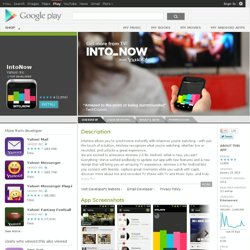 IntoNow - Android Apps on Google Play