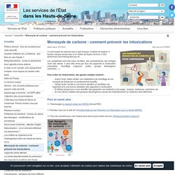 Monoxyde de carbone : comment prévenir les intoxications / Actualités
