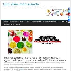 QUOI DANS MON ASSIETE 16/12/19 INFOGRAPHIE : LES INTOXICATIONS ALIMENTAIRES EN EUROPE : PRINCIPAUX AGENTS PATHOGÈNES RESPONSABLES D'ÉPIDÉMIES ALIMENTAIRES