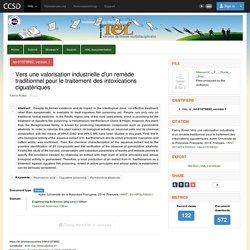 Université de la Polynésie Française, 2014. Thèse en ligne : Vers une valorisation industrielle d'un remède traditionnel pour le traitement des intoxications ciguatériques