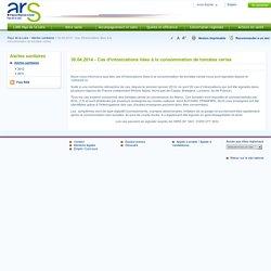 ARS PAYS DE LA LOIRE 30/04/14 Cas d'intoxications liées à la consommation de tomates cerise