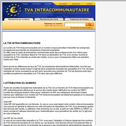 Informations sur la TVA Intracommunautaire