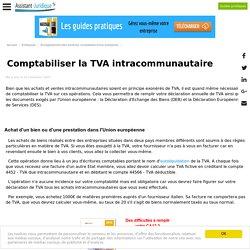 Comptabiliser la TVA intracommunautaire
