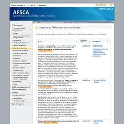 AFSCA 26/06/18 Circulaire : Conditions d'exportation en vue d'être conforme aux exigences spécifiques des pays tiers au niveau des limites maximales en résidus de pesticides