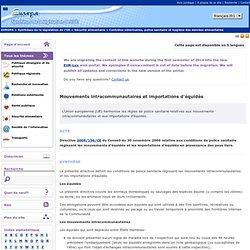 EUROPE 05/11/10 Mouvements intracommunautaires et importations d'équidés