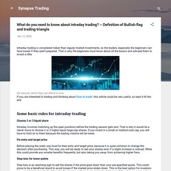 What do you need to know about intraday trading? – Definition of Bullish flag and trading triangle