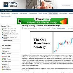Intraday Trading – the one hour Forex strategy - DewinForex.com: Forex traders portal