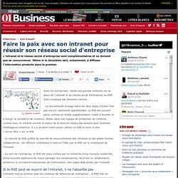 Faire la paix avec son Intranet pour réussir son réseau social d'entreprise par @arayrole #e20