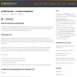 Le Wiki Intranet – un retour d'expérience