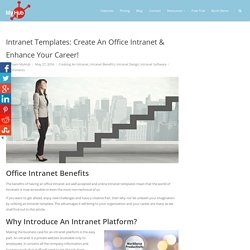 Intranet Templates: Create An Office Intranet Enhance Your Career