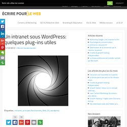Un intranet sous Wordpress: quelques plug-ins utiles
