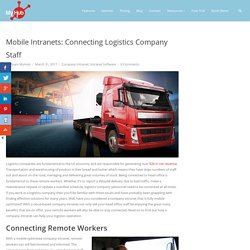 Mobile Intranets: Connecting Logistics Company Staff