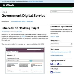 Intranets: DCMS doing it right