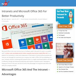 Intranets and Microsoft Office 365 For Better Productivity