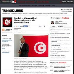 Tunisie: Marzouki, de l'intransigeance à la réconciliation