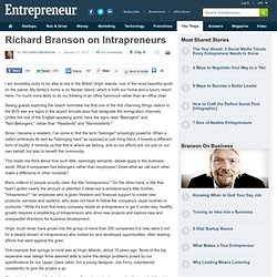 Richard Branson on Intrapreneurs