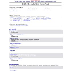 Digital Library: Bibliotheca Latina