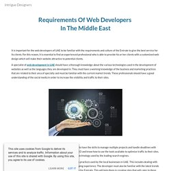 Requirements Of Web Developers In The Middle East