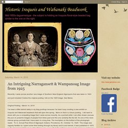 An Intriguing Narragansett & Wampanoag Image from 1925