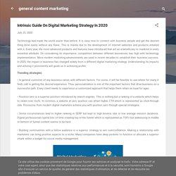 Intrinsic Guide On Digital Marketing Strategy In 2020