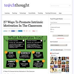 27 Ways To Promote Intrinsic Motivation In The Classroom