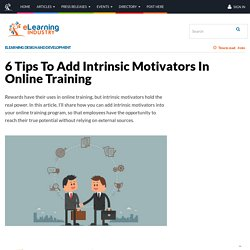 6 Tips To Add Intrinsic Motivators In Online Training