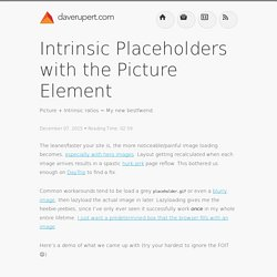 Intrinsic Placeholders with the Picture Element