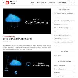 Intro on Cloud Computing - Altorum Leren