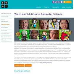 K-8 Intro to Computer Science