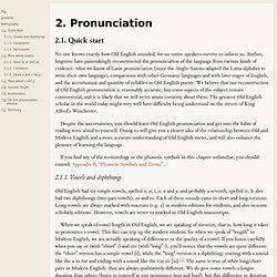 E-Intro to Old English - 2. Pronunciation