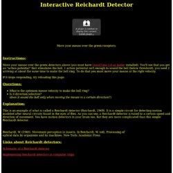 Interactive Reichardt Detectors