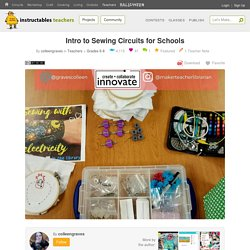 Intro to Sewing Circuits for Schools: 3 Steps