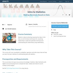 Introduction to Statistics Course (ST101)