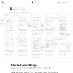 Intro To Product Design — HH Design