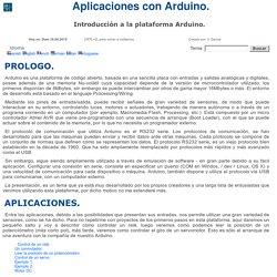 introducción al Arduino, proyectos con Arduino.