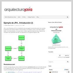 Ejemplo de JPA , Introducción (I) - Arquitectura Java