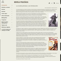 La novela policíaca: una introducción. Biblioteca Nacional de España