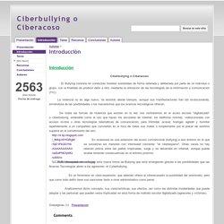 Introducción - Ciberbullying o Ciberacoso