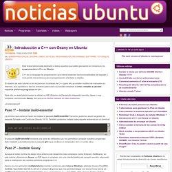 Introducción a C++ con Geany en Ubuntu