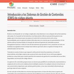 Introducción a los Sistemas de Gestión de Contenidos (CMS) de código abierto